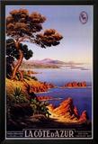 La Cote d'Azur Print by M. Tangry