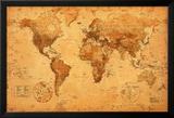 Mapa del mundo Pósters