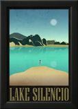 Lake Silencio Retro Travel Poster Julisteet