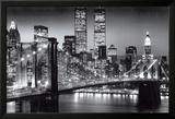 New York Manhattan Schwarz - Berenholtz Kunstdrucke von Richard Berenhotlz