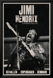 Jimi Hendrix - Copenhagen Lámina