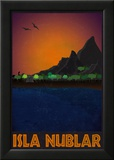 Isla Nublar Retro Travel Poster Kunstdruck