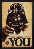STAR WARS, Dit imperie har brug for dig, på engelsk Plakater