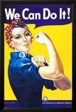 We Can Do It! (Rosie the Riveter) Julisteet tekijänä J. Howard Miller