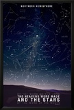 Star Map- Psalm 88:6 Posters