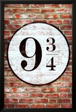 Platform 9 3/4 King's Cross Poster Print Billeder