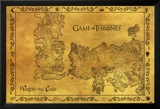 Game Of Thrones - Antique Map Plakater