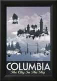 Columbia Retro Travel Poster Foto