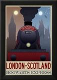 London- Scotland Hogwarts Express Retro Travel Poster Posters