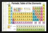 Periodic Table of the Elements White Scientific Chart Poster Print Kunstdrucke
