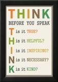 Think Before You Speak Kunstdrucke