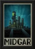 Midgar Retro Travel Poster Foto