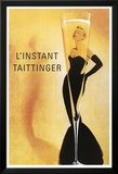 Reclameposter Taittinger, Franse tekst Posters