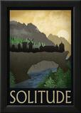 Solitude Retro Travel Poster Stampe