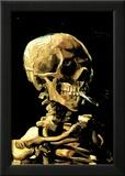 Vincent Van Gogh (Skull with Cigarette) Art Print Poster Print