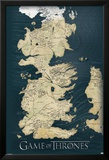 Game of Thrones-Map Poster