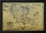 Landkaart van Lord of the Rings Poster