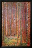 Dennenwoud Print van Gustav Klimt