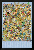 Simpsons-Cast Names Posters