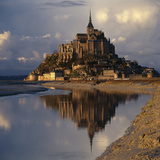 Mont-St-Michel, Normandy. Evening Shot with Reflection Photographic Print by Joe Cornish