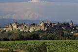 Medieval Hilltop Old Town Fortress in Carcassonne, Department Aude, South of France Fotografie-Druck von Achim Bednorz