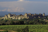 Medieval Hilltop Old Town Fortress in Carcassonne, Department Aude, South of France Photographic Print by Achim Bednorz
