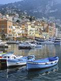 Cote D'Azur, Villefranche-Sur-Mer, View on Town and Port Lámina fotográfica por Marcel Malherbe