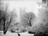 Magdalen College, Oxford, Oxfordshire in the Snow Fotografie-Druck von Henry Taunt