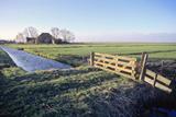 Friesland, Agricultural Landscape and Farm at Oosterzee Lámina fotográfica por Marcel Malherbe