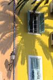 Cote D'Azur, Villefranche-Sur-Mer; Mediterranean Architecture Fotografisk tryk af Marcel Malherbe
