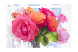 Garden Roses in Vase Photographic Print by Henri Silberman