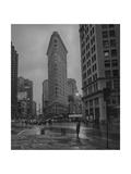 New York  Flatiron Rain Fotografie-Druck von Henri Silberman