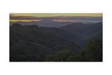 Oakland Redwood Park, East View Morning Clouds Fotografisk trykk av Henri Silberman