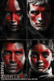 Hunger Games- Faces Of The Revolution Kunstdruck