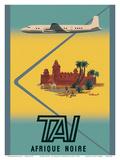 Afrique Noire (Sub-Saharan Africa) - TAI Airline Posters tekijänä Bernard Villemot