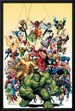 Capa de revista em quadrinhos nº.1, Clássicos Vingadores: Hulk Pôsteres por Arthur Adams