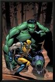 Incredible Hulk No.80 Cover: Wolverine and Hulk Poster by Lee Weeks