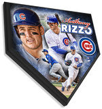 Anthony Rizzo Home Plate Plaque Wall Sign
