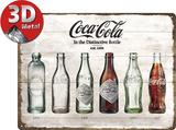 Coca-Cola - Bottle Timeline Plaque en métal