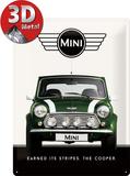 Mini - Cooper Green Plaque en métal