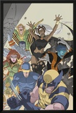 Uncanny X-Men: First Class No.4 Cover: Wolverine, Cyclops, Phoenix, Storm and Nightcrawler Print by Roger Cruz