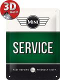 Mini - Service Green Plaque en métal