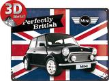 Mini - Union Jack Plaque en métal