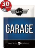Mini - Garage Blue Plaque en métal