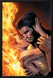 X-Men: The End No.1 Cover: Wolverine and Phoenix Fighting Prints by Sean Chen