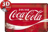 Coca-Cola - Logo Red Wave Plaque en métal