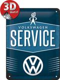 VW Service Plaque en métal