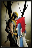Wolverine No.9 Cover: Wolverine and Mystique Kissing Poster by Jae Lee
