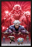 Ultimate Fallout No.5 Cover: Witch, Quicksilver, Sabretooth, Blob, and Mystique Print by Bryan Hitch