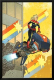 Captain Marvel 12 Cover: Captain Marvel Prints by Joe Quinones